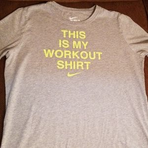 """Nike """"This is My Workout Shirt"""" Tshirt"""